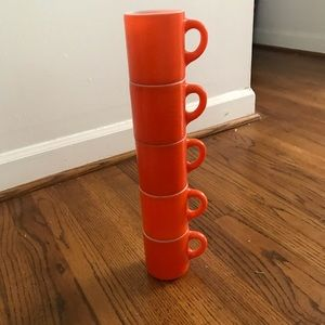 ANCHOR HAWKING FIRE KING ORANGE PEEL COFFEE CUPS